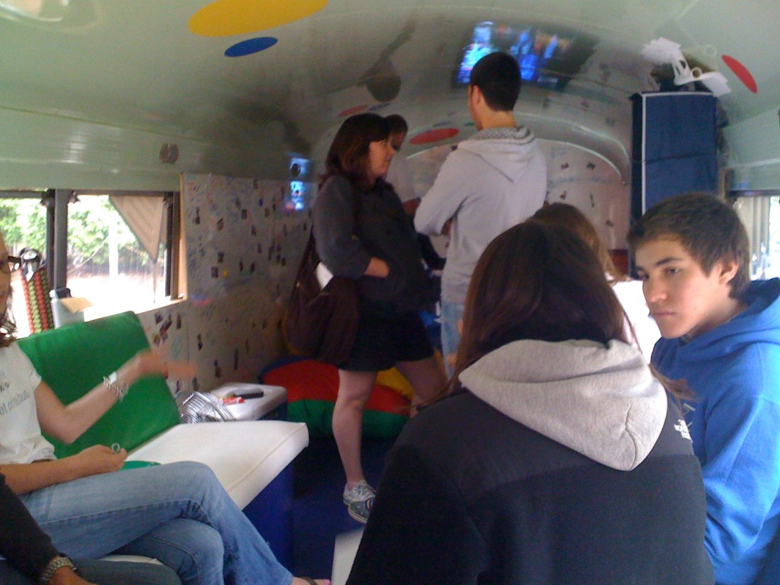 Inside Google Bus
