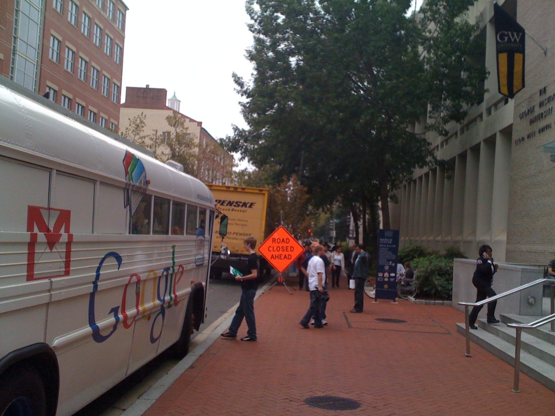 Google Bus at GWU